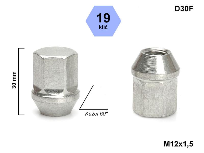 Kolové matice rozměr M12x1,5mm