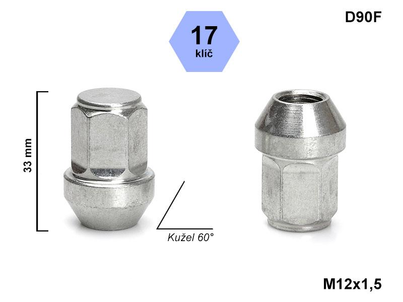 Kolové matice M12x1,5 mm